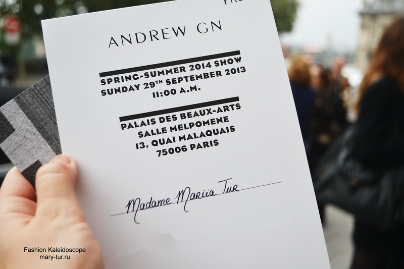 My Paris Fashion Week- Andrew GN Spring 2014