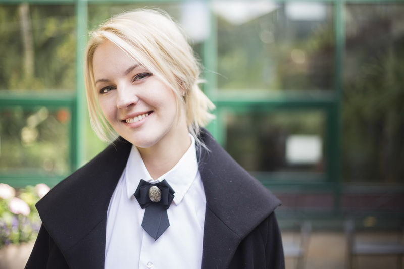 Яна Крайнова в лукбуке новой коллекции Polina Polukeeva