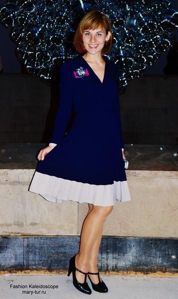 Paris Fashion Week. My look: платье Anna Ivanova и брошь Diana Serebrova