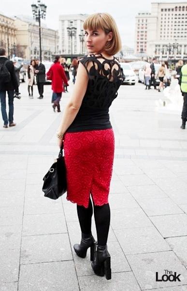 MBFWR: мои образы. Накидка - Borodulins, юбка MAYAMODA Фото - Лисавета Попова для the-Look.ru