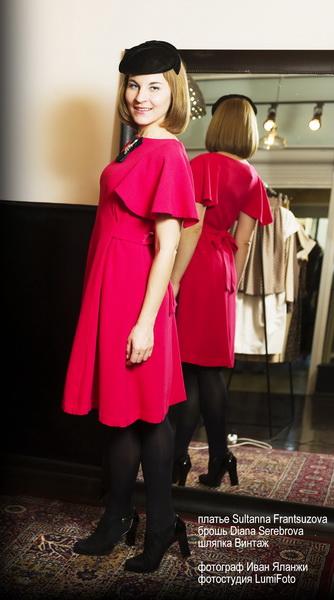Новый Год и Рождество 2014: выбираем образы к праздникам. Платье Sultanna Frantsuzova, брошь  Diana Serebrova