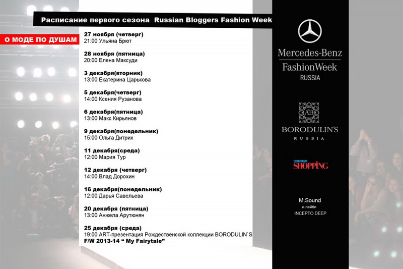 """О МОДЕ ПО ДУШАМ"" - интервью TOP-10 Fashion блогеров России 2013"
