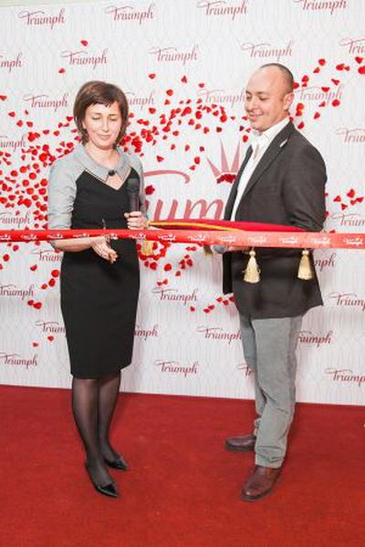 Джулио Дерме и Светлана Белова (коммерческий директор Triumph)
