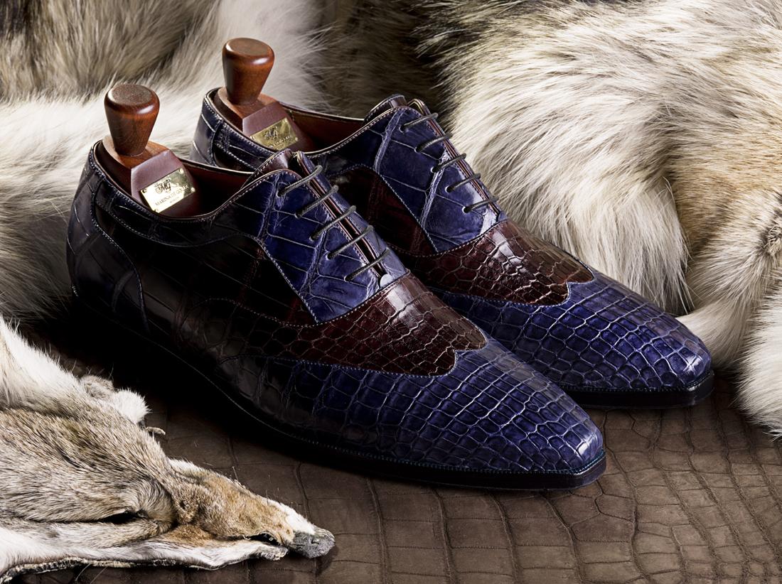 Туфли из кожи крокодила Marina De Golle