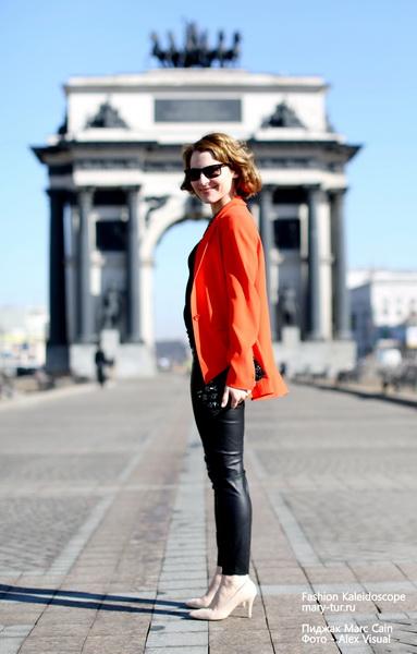 """""""Оранжевое"""" настроение: пиджак Marc Cain. Мария Тур"""