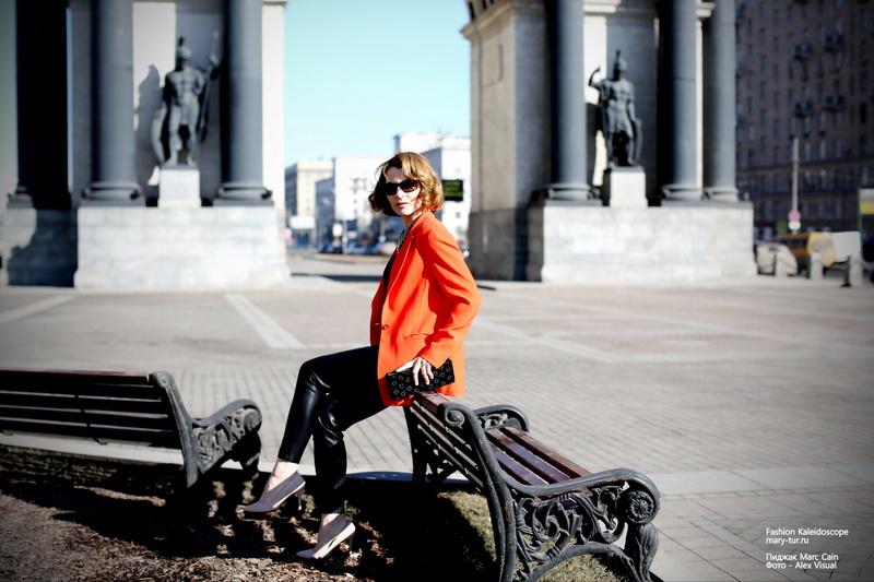 """""""Оранжевое"""" настроение: пиджак Marc Cain"""