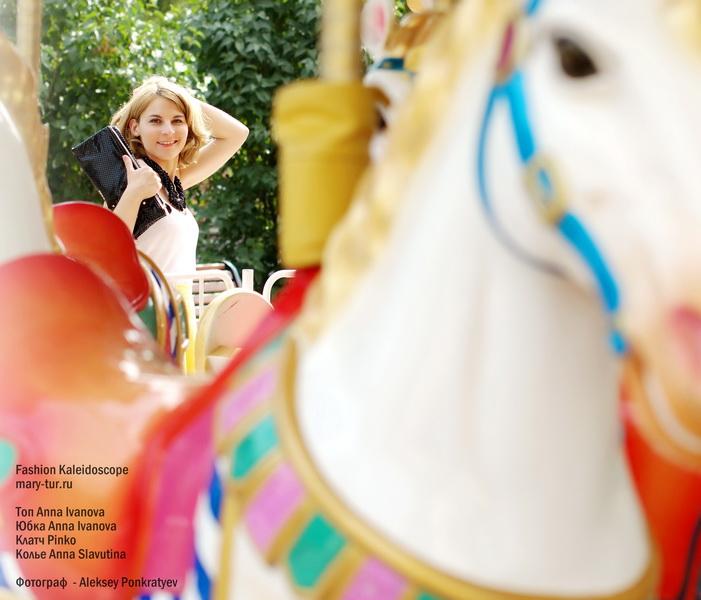 Топ, юбка - Anna Ivanova, Клатч - Pinko, Колье - Anna Slavutina, Фотограф - Aleksey Ponkratyev