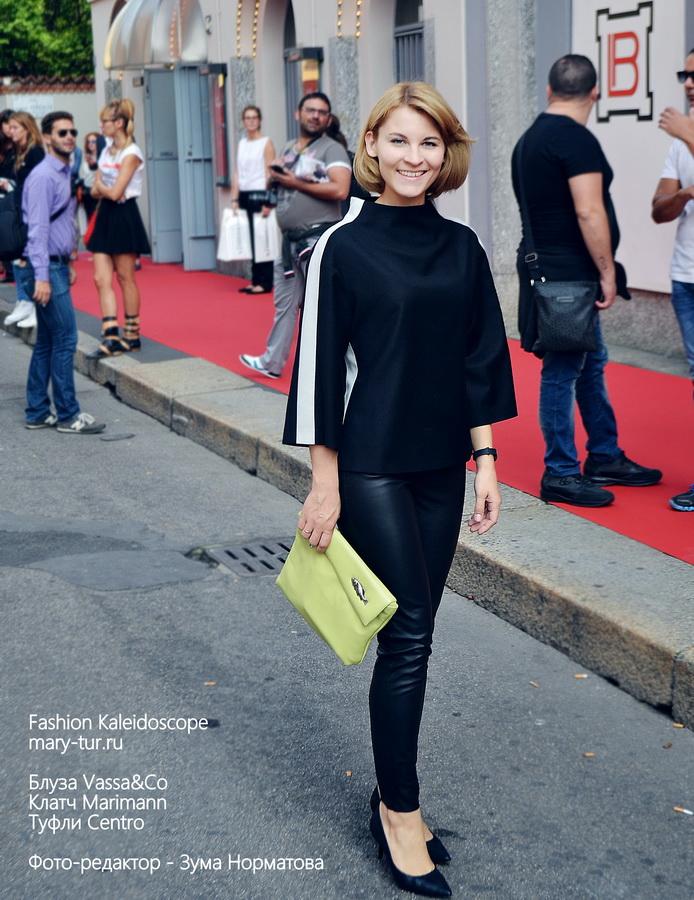 Milan Fashion Week. На мне: блуза Vassa&co, клатч Marimann, туфли Centro
