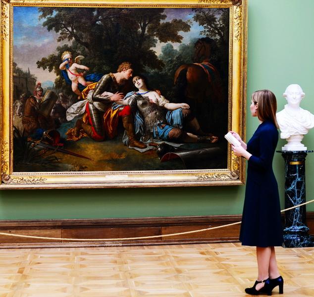 "Лагрене Старший, Луи Жан Франсуа. Картина ""Тангред и Клоринда"""
