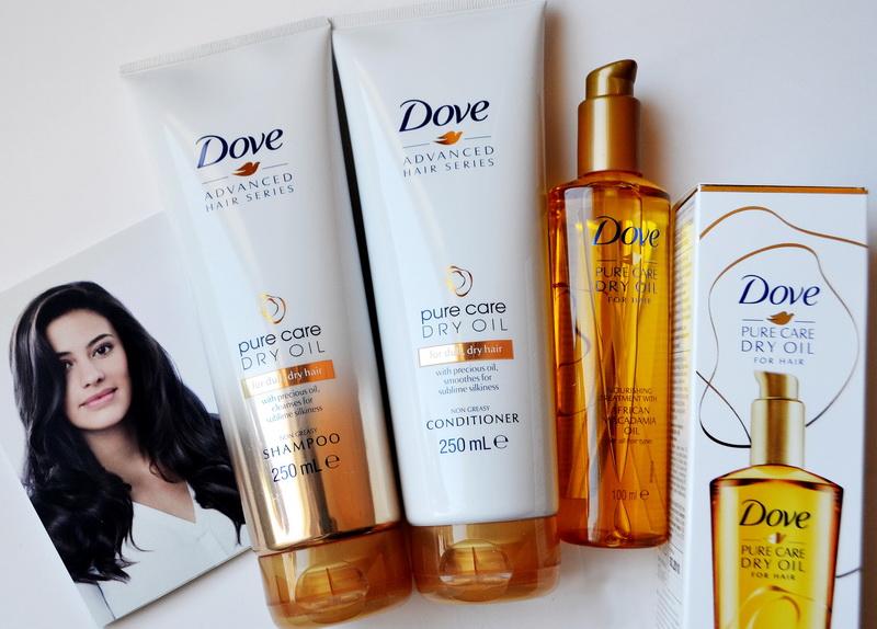 Новая коллекция Dove. Advanced Hair Series - Преображающий уход. Pure Care Dry Oil